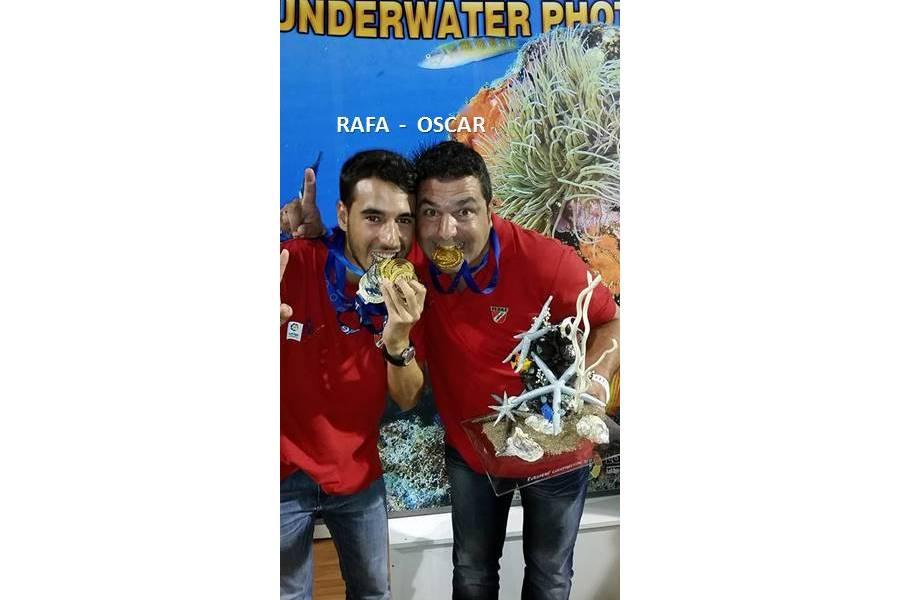 La selección de Castilla y León de Actividades subacuáticas, campeón de Europa
