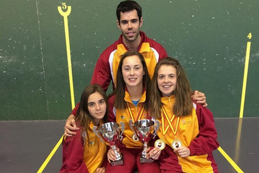 El frontenis femenino triunfa en el campeonato de España celebrado en Elche