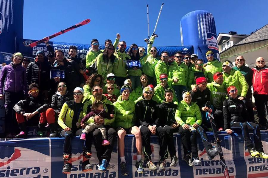 La selección de esquí de montaña, tercera  en el Campeonato de España de Selecciones Autonómicas