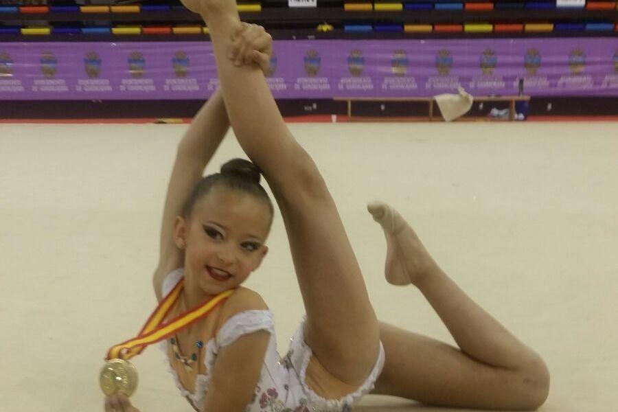 Lucía Yustos campeona de España alevín en el campeonato Nacional de Gimnasia Rítmica celebrado en Guadalajara