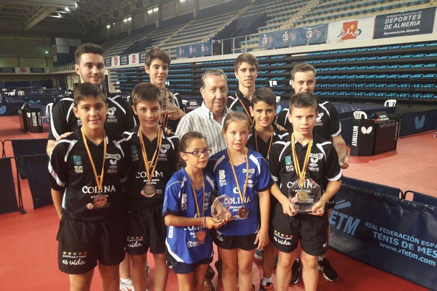 El tenis de mesa consigue once medallas, cuatro de oro, en el campeonato de España