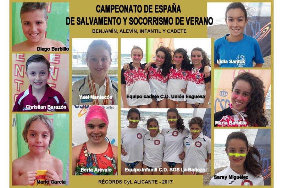 Castilla y León consigue 46 medallas en los campeonatos de España de Salvamento y Socorrismo