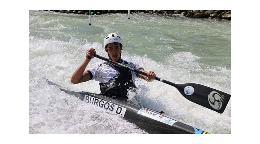 El palista, David Burgos, medalla de plata en patrullas en el Mundial de Aguas Bravas de Bratislava