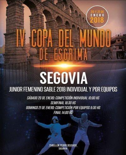 IV Copa del Mundo de Esgrima. Sable Junior Femenino