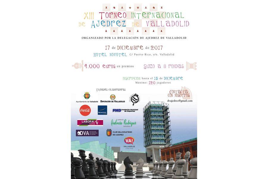 El XIII Torneo Internacional de Ajedrez de Valladolid repartirá 4.000 euros en premios