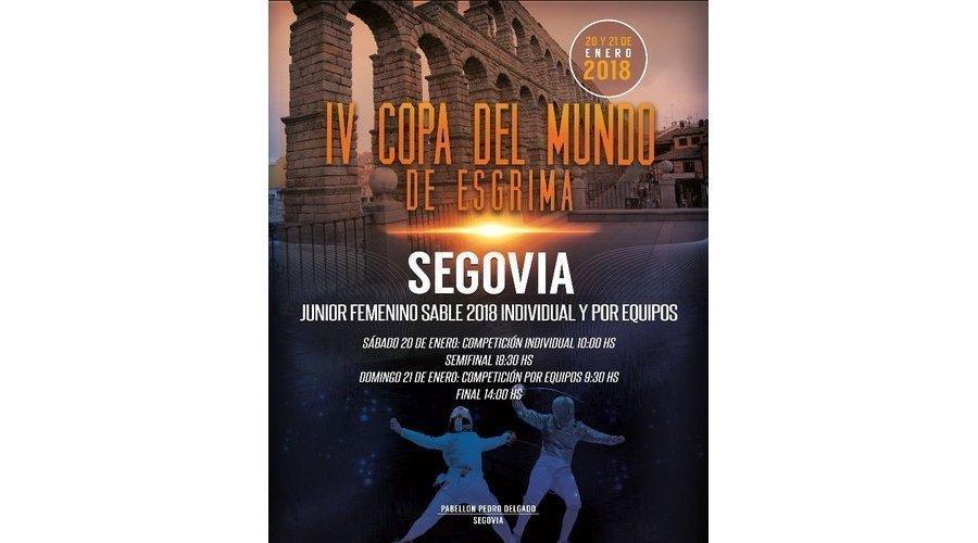 Segovia acoge la IV edición de la Copa del Mundo de sable femenino el 20 y 21 de enero
