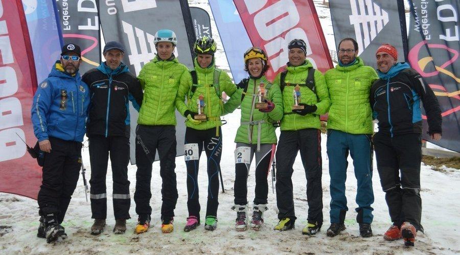 Leitariegos acoge el primer campeonato autonómico de esqui de montaña, con gran éxito de participantes