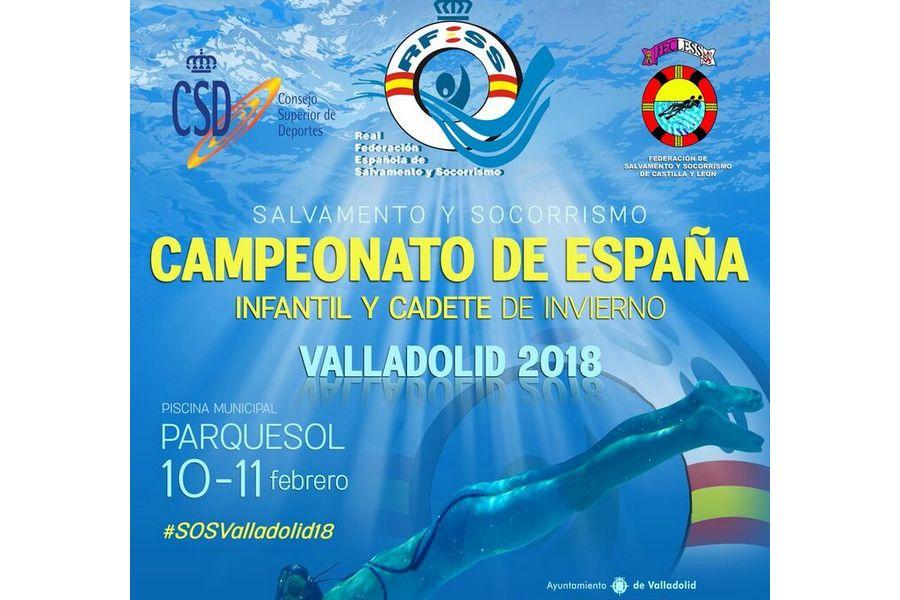 Valladolid acoge el Campeonato de España de Salvamento y Socorrismo Infantil y Cadete de invierno