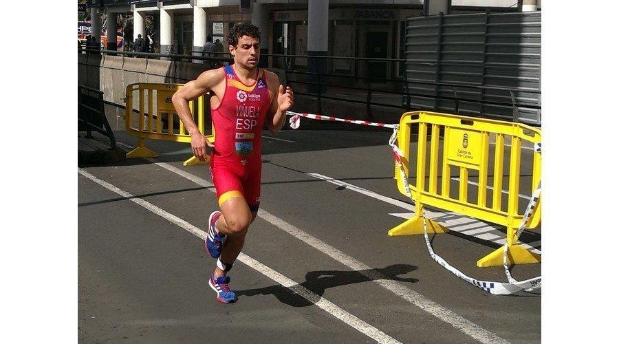 El triatleta leonés Kevin Viñuela acaba 14º en la Copa de Europa de Gran Canaria
