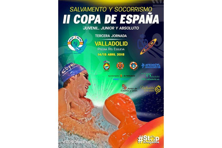 Javier Huerga, primero, tras disputarse dos jornadas de la II Copa de España de Salvamento y Socorrismo