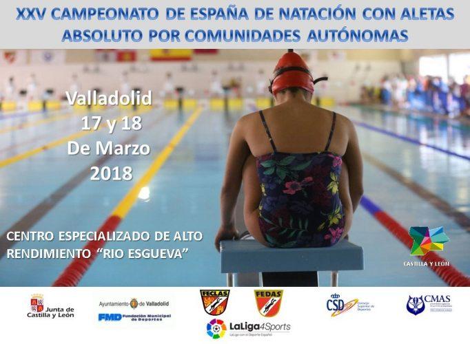 La piscina de Río Esgueva acoge el campeonato de España de natación con aletas