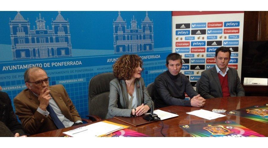 España vs Estonia, en Ponferrada en la fase de la clasificación para el Europeo de fútbol sub21
