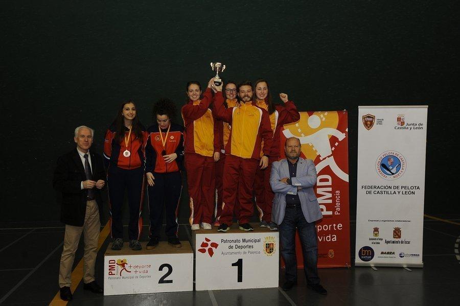 Castilla y León, dos oros y un bronce en el campeonato de España de Paleta Goma y Frontenis Olímpico
