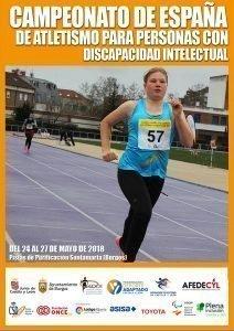Campeonato de España de Atletismo para Personas con Discapacidad Intelectual @ Burgos.Pistas de Purificación Santa Marta | Burgos | Castilla y León | España