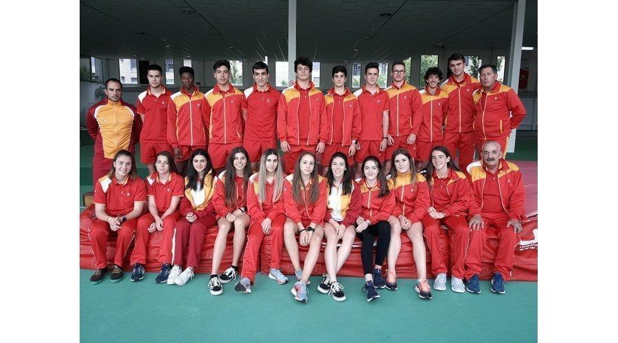 El equipo sub18 de atletismo, medalla de bronce en el campeonato de España disputado en Ciudad Real