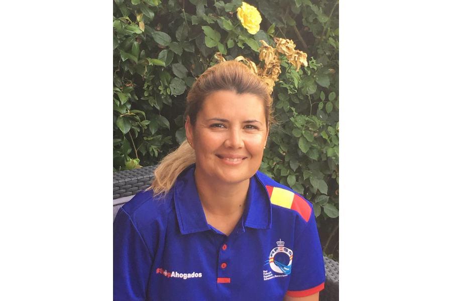 Elena Justo Cadenas, entrenadora del equipo nacional en el Europeo de Salvamento y Socorrismo