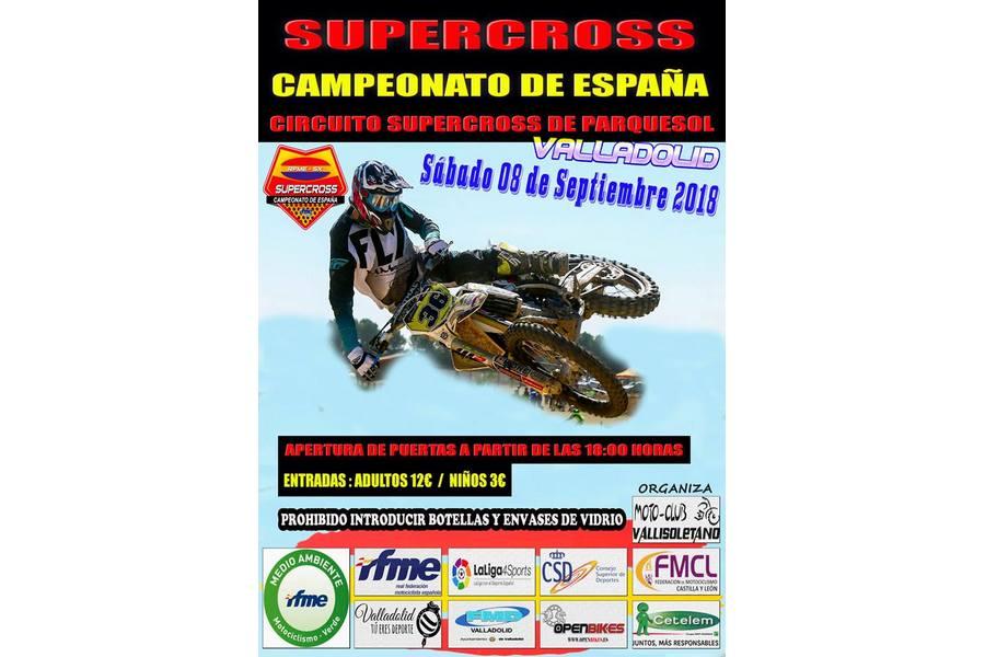 Los mejores pilotos de España de Supercross se juegan el titulo nacional en Valladolid