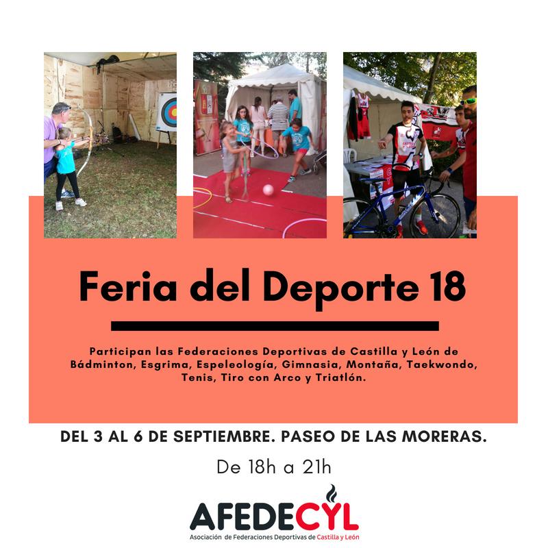 La III Feria del Deporte se celebra en el Paseo de Las Moreras del 3 al 6 de septiembre