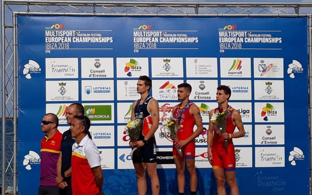 El soriano Alfonso Izquierdo, medalla de bronce en el Europeo de Duatlón Cross