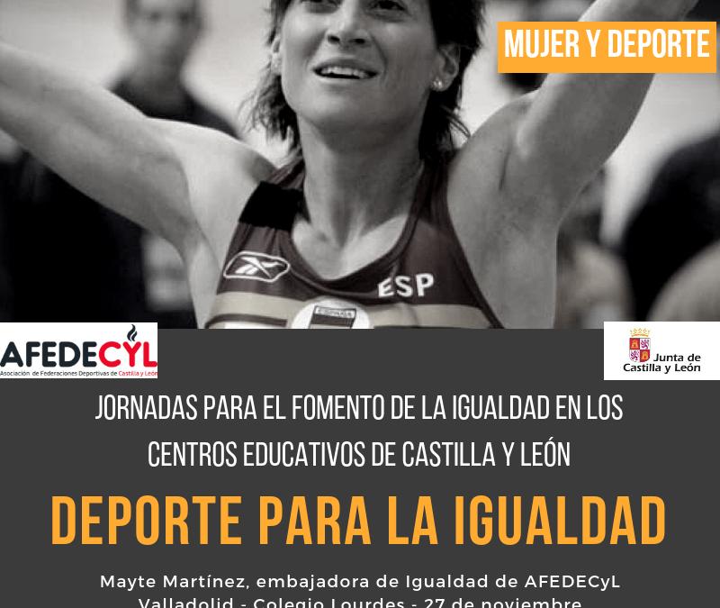 Deportistas de Castilla y León llevarán un 'mensaje de igualdad' por los centros educativos