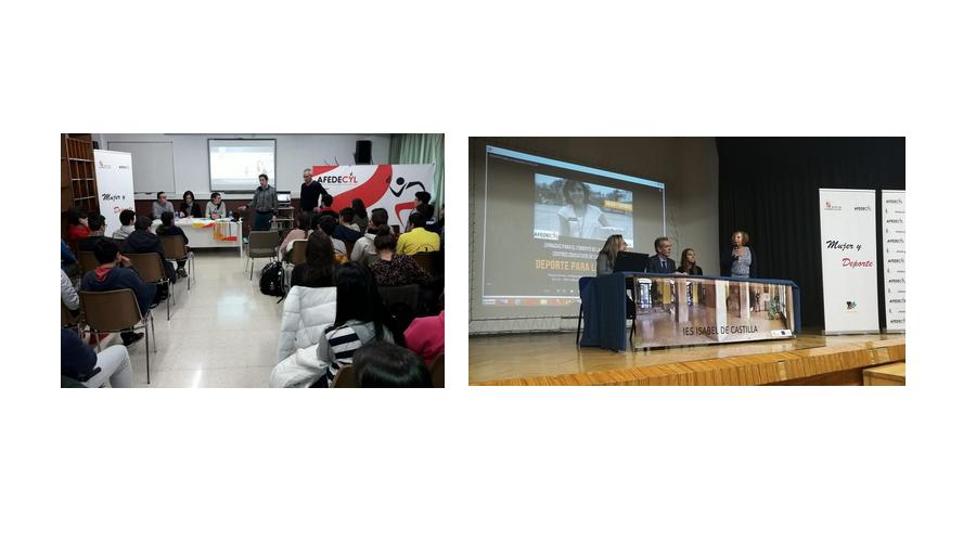 Laura Pedruelo, en Zamora y Paula Arias en Ávila, cierran las jornadas de Igualdad llevadas a cabo por Afedecyl en los centros educativos de Castilla y León