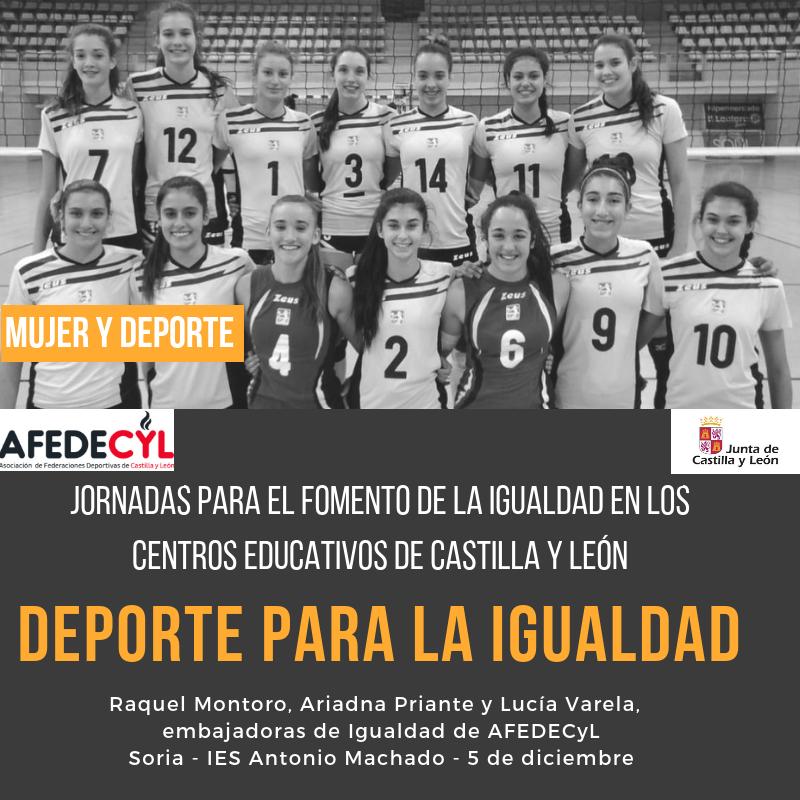 Soria acoge la Jornada de Igualdad en el IES Antonio Machado con la concentración de Voleibol como embajadoras