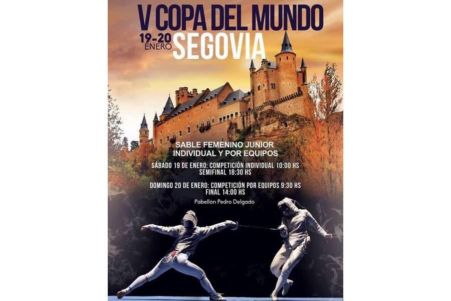 Las mejores tiradoras del mundo se reúnen en Segovia en la V Copa del Mundo de Sable Junior Femenino