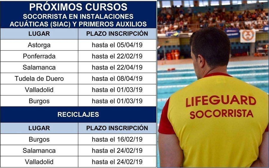 La FECLESS impartirá 6 cursos de Socorrista y Primeros Auxilios en cuatro provincias de Castilla y León