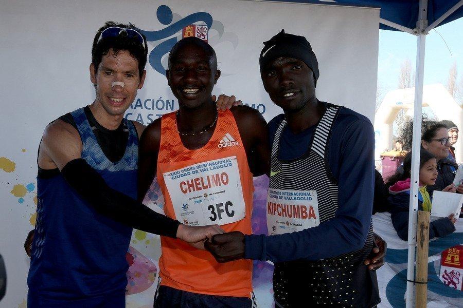 Los africanos, Óscar Chelimo y Josephine Chelangat, campeones del XXXI Cross Internacional ciudad de Valladolid