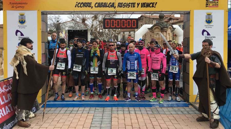 La localidad soriana de Garray acoge el campeonato de España de Duatlón Media Distancia