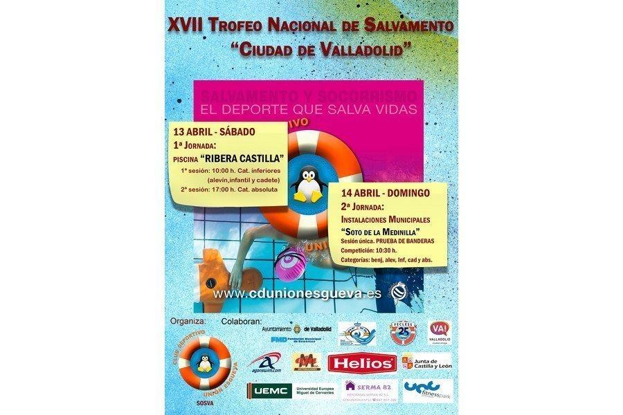 Valladolid acoge la XVII edición del Trofeo Nacional de Salvamento y Socorrismo