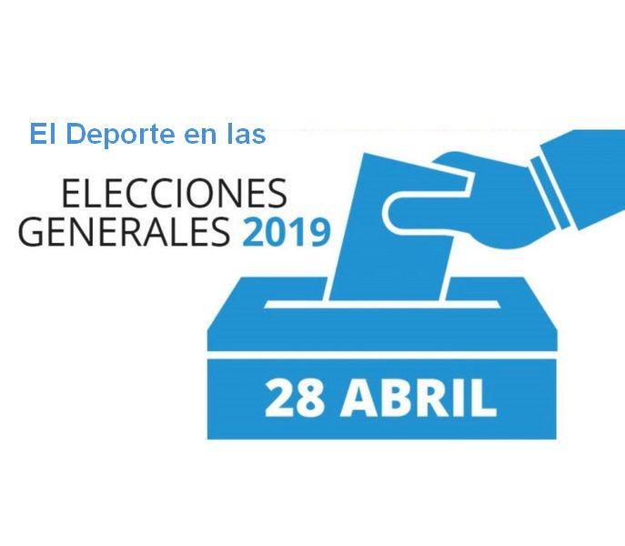 El deporte en los programas electorales de los principales partidos nacionales