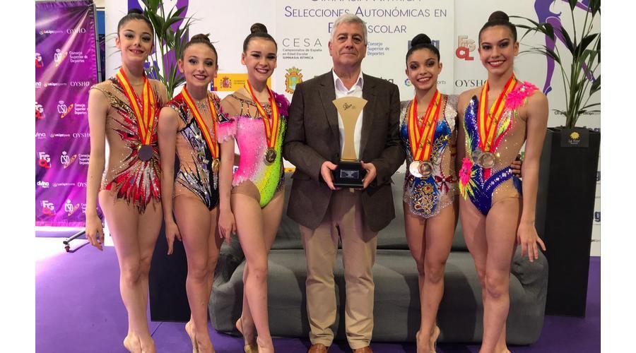 Castilla y León se proclama campeón de España de Gimnasia Rítmica en Ponferrada