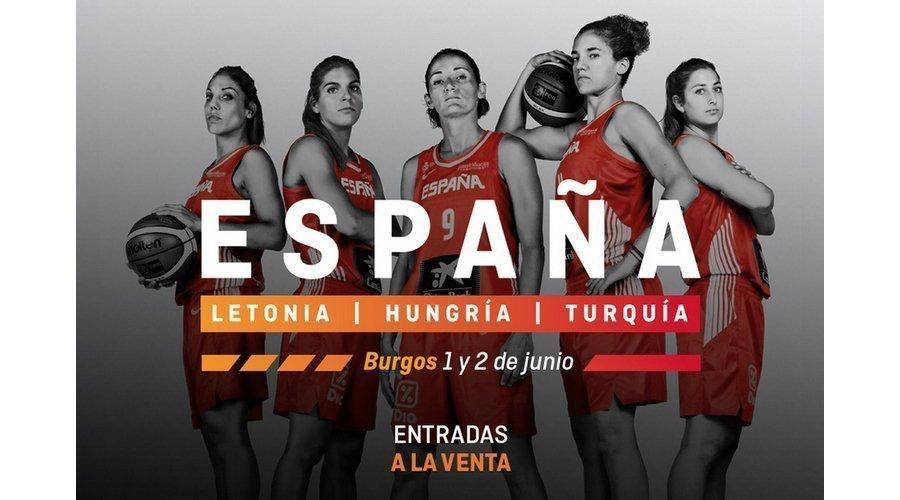 España se medirá a Letonia en Burgos en el primer partido amistoso de preparación para el Eurobasket femenino