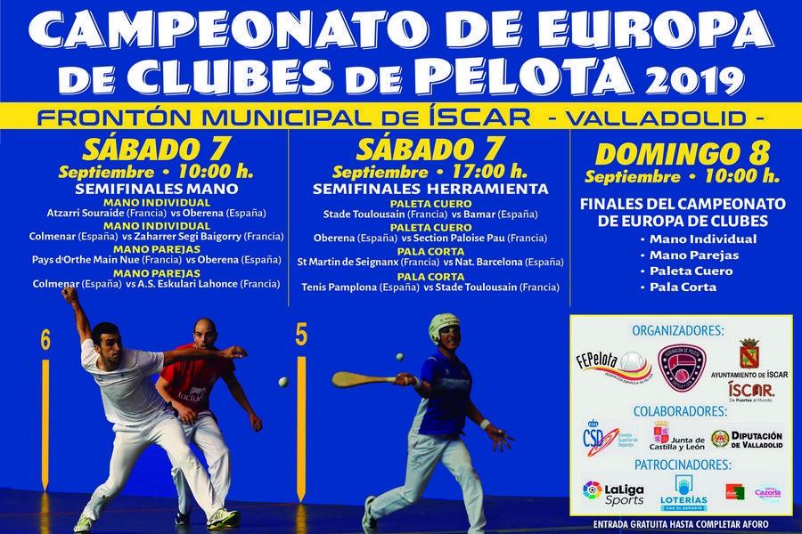 Baeza y Medina, del Club Puertas Bamar de Íscar, representarán a España en el campeonato de Europa de Pelota
