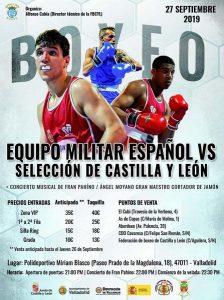 Velada Boxeo Equipo Militar español vs Selección Castilla y León @ Valladolid. Polideportivo MIrian Blasco | Valladolid | España