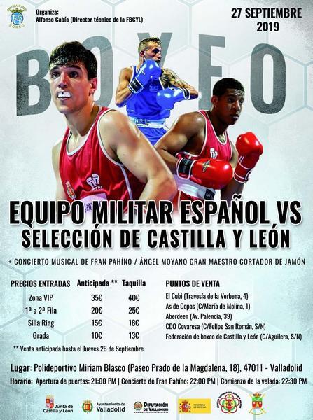 Velada Boxeo Equipo Militar español vs Selección Castilla y León