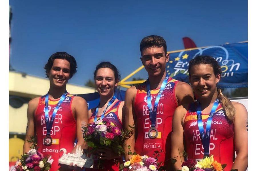 La triatleta vallisoletana Esther Gomez plata en relevos mixtos de la Copa de Europa de Triatlón