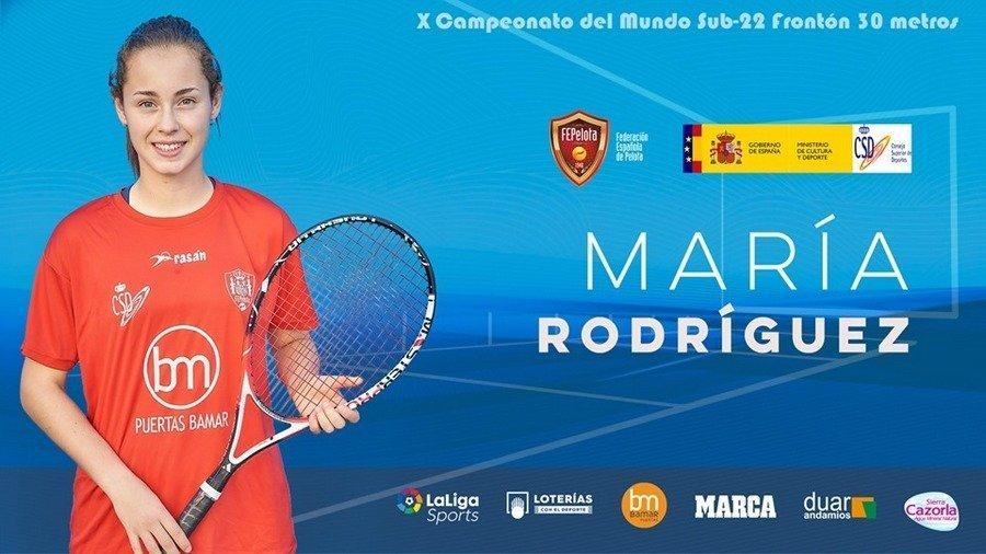 La palentina María Rodríguez representará a España en el campeonato del Mundo sub22 de Frontón que se celebra en Tenerife