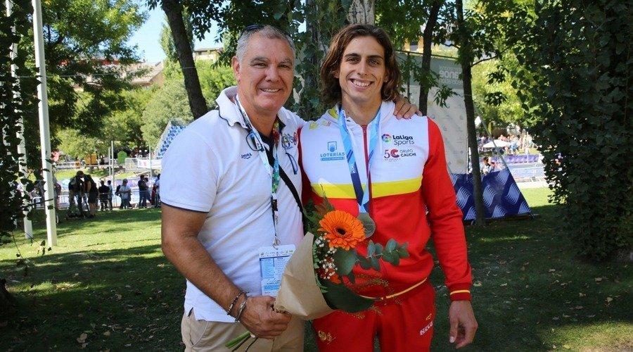 El segoviano David Llorente, subcampeón del Mundo y campeón por equipos en slalon K1 de priragüismo