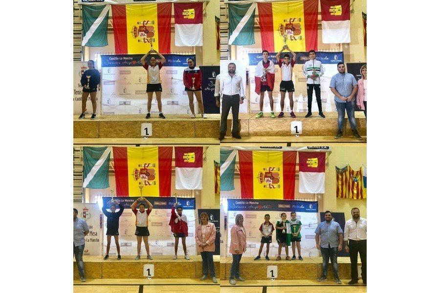 Castilla y León se proclama campeón de España de Tenis de Mesa de Selecciones Autonómicas en Ocaña (Toledo)