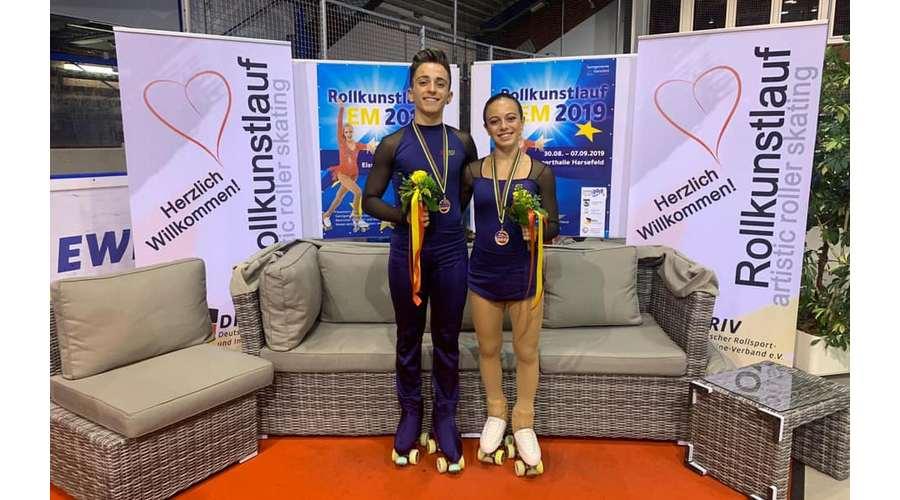 Los patinadores vallisoletanos Manuel delgado y Lidia Mateo se cuelgan el bronce en el Europeo de Patinaje Artístico