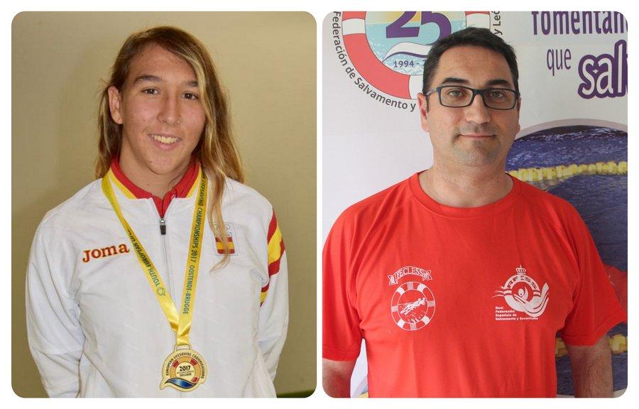 Carolina Ganado y Alberto Retuerto preseleccionados para el equipo absoluto de la Swiss Pool Lifesaving Cup