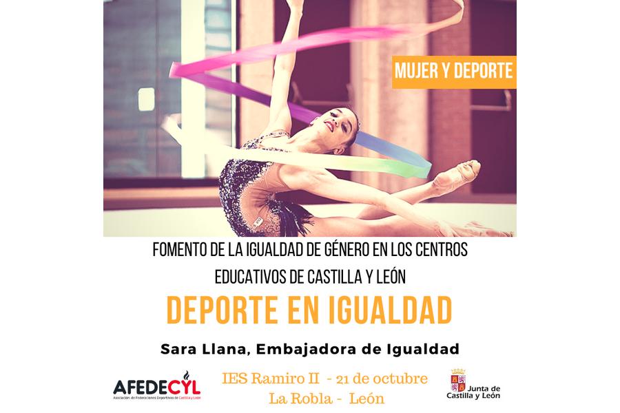 La gimnasta Sara Llana llevará el mensaje de Igualdad a los estudiantes de La Robla, como embajadora de AFEDECYL