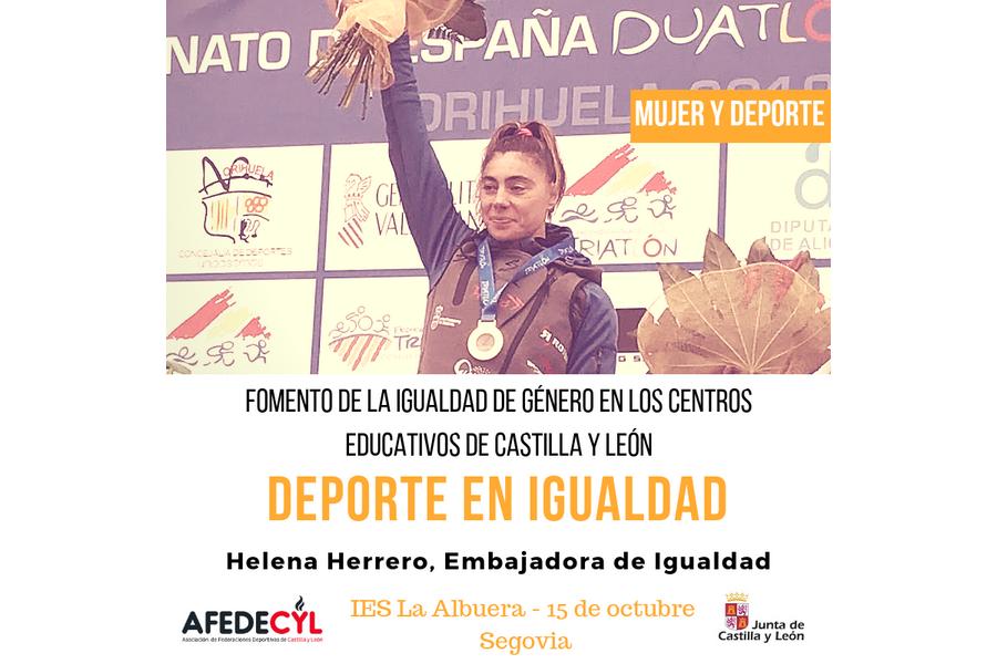 Deportistas de Castilla y León llevarán el mensaje de Igualdad a los centros educativos como 'embajadoras' de AFEDECYL