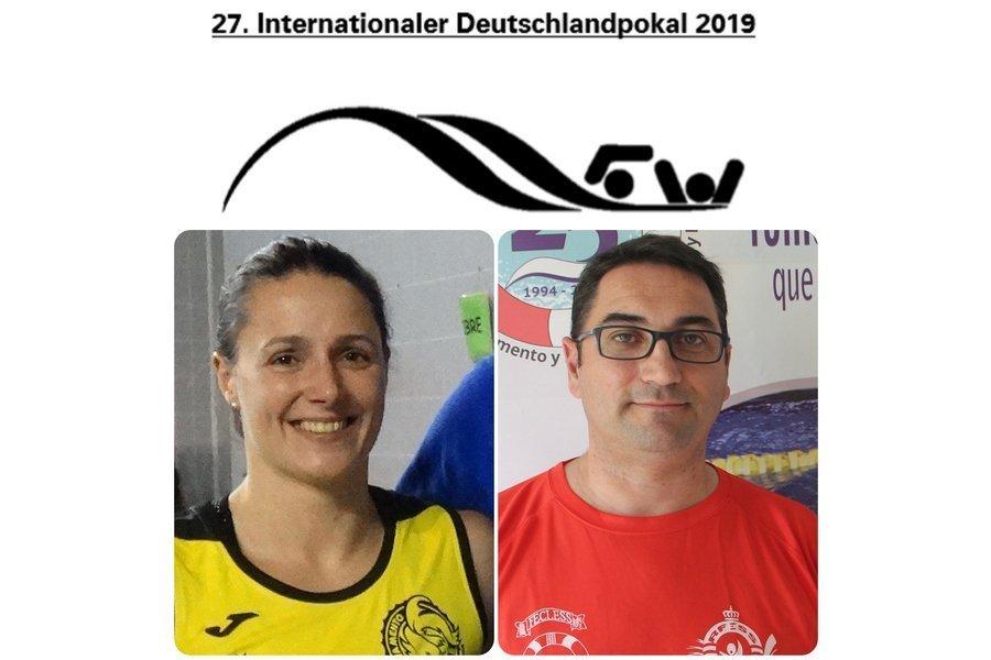 Dos técnicos de Castilla y León, Cristina García y Alberto Retuerto, en la German Cup de Salvamento y Socorrismo
