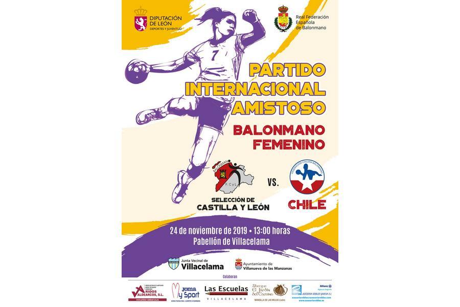 La selección absoluta femenina de balonmano de Castilla y León debuta ante la selección nacional de Chile