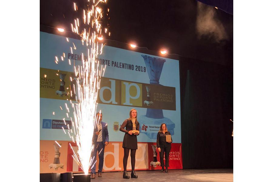 La Pelotari María Rodríguez, embajadora de Igualdad de AFEDECYL,  elegida mejor deportista de Palencia 2019