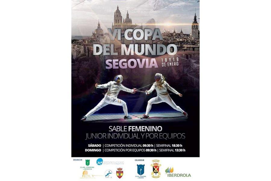 Segovia acoge por sexto año consecutivo la Copa del Mundo Junior de Sable Femenino