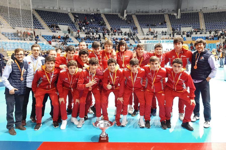 El equipo juvenil de Balonmano de Castilla y León, bronce en el CESA 2020